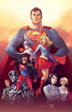 Superman family by Marcus To and Irma Kniivila