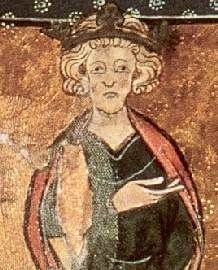 Edward the Confessor was the son of Ethelred the Unready and Emma of Normandy (daughter of Richard the Fearless). King Cnut of Denmark invaded, killed Edward's brother King Edmund Ironside, and married Emma, so Edward went into hiding in Normandy. Cnut's son became king but died without an heir, upon which Edward was made King of Wessex. Edward in turn died without an heir, and was followed by Harold, then William of Normandy.