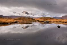 Blackmount in Autumn. Weather Window 1. Lochan Na Stainge. Rannoch. Highland Scotland.
