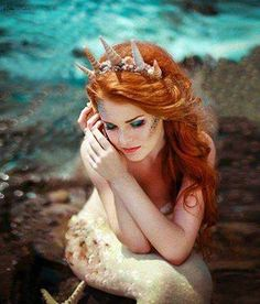 Mermaid with sea crown..