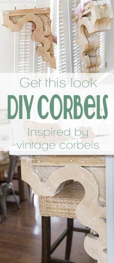 DIY Vintage-Inspired Corbels   pattern and tutorial on Remodelaholic.com #corbel #decorate #diy #woodwork