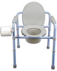 Carex commode with toilet paper holder.