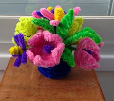 18 Pipe Cleaner Flower pots, gorgeous pipe cleaner crafts