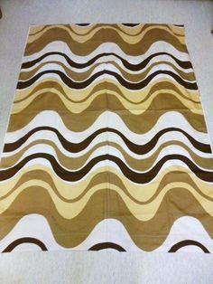 Tampella Finland, Marjatta Metsovaara Design Vintage 70's Fabric - Retro #Tampella #Waves