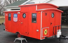 Handmade Caboose camper. Click to see more photos. http://bit.ly/1zRKQBw