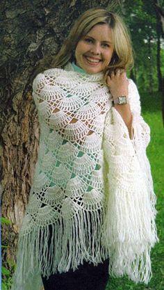 Ideas Dress Wrap Pattern Free Kielo For 2019 Crochet Shawls And Wraps, Knitted Shawls, Crochet Scarves, Crochet Clothes, Crochet Woman, Crochet Lace, Crochet Stitches, Free Crochet, Shawl Patterns