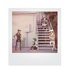 """""""Pixels and Polaroids"""" by rad high schooler Jherin Miller. This fun photo series shows 8-bit pixelated characters hanging out in Polaroid-style photos. #ilovephotojojo"""