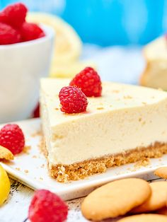 Light Greek Yogurt Cream Cheese Cheesecake - This light greek yogurt cream cheese cheesecake recipe has decadence written all over it. It's lightened up, but I promise you won't be able to tell!
