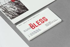 Bless business card #typography
