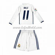 Billige Fodboldsæt Real Madrid Børn 2016-17 Bale 11 Langærmet Hjemmebanesæt