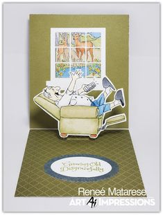 Art Impressions Blog Laugh Lines, Window Cards, Art Impressions, Stamp Sets, Card Ideas, Windows, Organization, Deco, Blog
