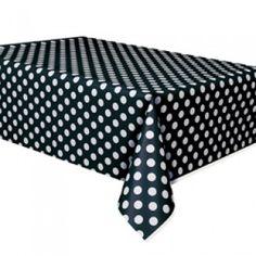 Polka Dot Party Supplies, Black Polka Dot Tablecovers