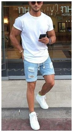 Cool Outfits For Men, Mens Fashion Summer Outfits, Stylish Mens Outfits, Men's Spring Outfits, Summer Clothes For Men, Stylish Clothes For Men, Beach Outfits, La Mode Masculine, Herren Outfit