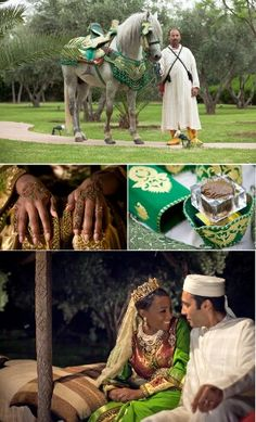 French Moroccan West Indian fusion wedding