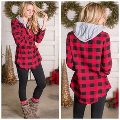 Leggings combat boots flannel with t shirt under