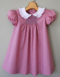 Baby Frock Pattern, Frock Patterns, Baby Girl Dress Patterns, Baby Dress Patterns, Baby Clothes Patterns, Little Girl Dresses, Smocking Patterns, Sewing Patterns, Jumpsuit Pattern