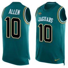 Men's Nike Jacksonville Jaguars #10 Brandon Allen Limited Teal Green Player Name & Number Tank Top NFL Jersey
