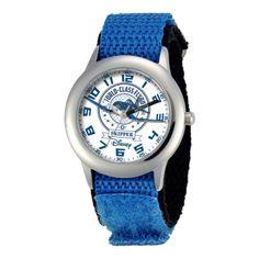 jcpenney - Disney Planes Skipper Riley Time Teacher Kids Blue Strap Watch - jcpenney
