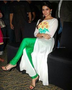 Samantha Images, Samantha Ruth, South Indian Actress, Beautiful Indian Actress, Thighs Women, Beautiful Dresses For Women, Girls In Mini Skirts, Indian Designer Wear, Bollywood Actress