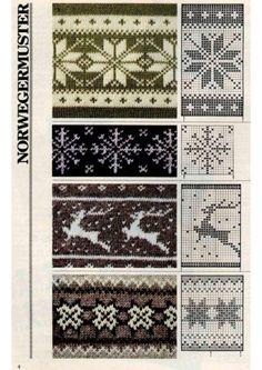 Tina's handicraft : 30 patterns knittin &crochet - fair isle knittings Fair Isle Knitting Patterns, Knitting Charts, Knitting Stitches, Knitting Yarn, Knit Patterns, Double Knitting Patterns, Knitting Machine, Tapestry Crochet, Crochet Chart