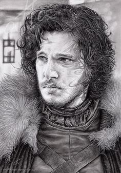 Game of Thrones fan art. Jon Snow