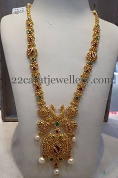 Jewellery Designs: Uncut Diamond Set with Peacocks