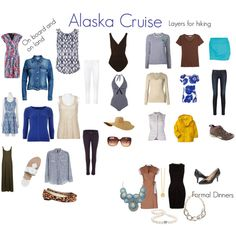 Alaska cruise capsule wardrobe: on board and on land, hiking, and formal