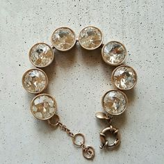 """J.crew crystal brulee bracelet 7-8"""". Authentic. Will ship out within 1-2 business days out of South dakota. No trades. Like new condition J. Crew Jewelry Bracelets"""