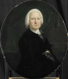 Jean Humbert   Portrait of Adriaan du Bois, Director of the Rotterdam Chamber of the Dutch East India Company, elected 1742, Jean Humbert, 1760   Portret van Adriaan du Bois (1713-74), gekozen in 1742. Buste in ovaal naar rechts, het gelaat aanziend. Onderdeel van een reeks portretten van de bewindhebbers van de Rotterdamse Kamer van de Verenigde Oost-Indische Compagnie, vervaardigd voor het Nieuw Oost-Indisch Huis uit 1698 aan de Boompjes te Rotterdam.