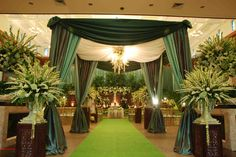 Javanesse Green Wedding. Decor by Agung Decoration Jakarta. I Love Sedap Malam..