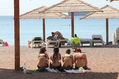 Girls in swimming suits at the beach, Eilat