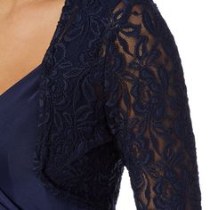 From Debut comes this gorgeous cover up in navy, styled with a lace pattern and ´ length sleeves, perfect for completing your look.