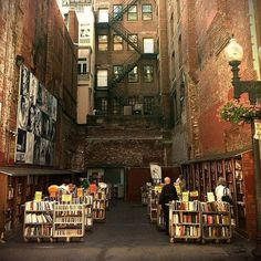 Brattle Book Shop - Boston. One of America's oldest (established 1825) and largest antiquarian bookstores, the Brattle features an outside sale lot (pictured), two floors of general used books, and a third floor of rare & antiquarian books