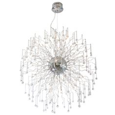 CWI Lighting Cherry Blossom Chrome Traditional Chandelier at Lowe's. This breathtaking 48 Light Chandelier with Chrome finish is a beautiful piece from our Cherry Blossom Collection. With its sophisticated beauty and Sputnik Chandelier, Chandelier Lighting, Cool Floor Lamps, Large Crystals, Crystal Pendant, Crystal Chandeliers, Shopping Hacks, Chrome Finish, Cherry Blossom