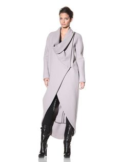 Haider Ackermann Women's Long Asymmetrical Coat at MYHABIT