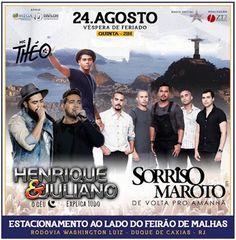 Agenda Cultural RJ: - HENRIQUE & JULIANO -  - SORRISO MAROTO -  - MC T...