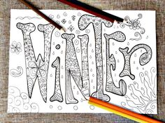 winter kids coloring page adults 4 season home di LaSoffittaDiSte