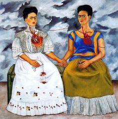Art & Candy: Las Dos Fridas e il divorzio da Diego Rivera Diego Rivera, Kahlo Paintings, Frida Art, Mexican Artists, Classic Paintings, Most Famous Paintings, Popular Art, Famous Artists, Art History