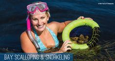 Scalloping & snorkeling in St. Joseph Bay, Port St. Joe & Cape San Blas, FL