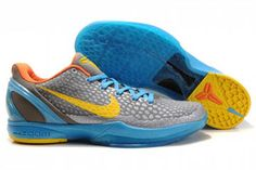 Nike Zoom Kobe VI Blue Grey Yellow Men's 10339