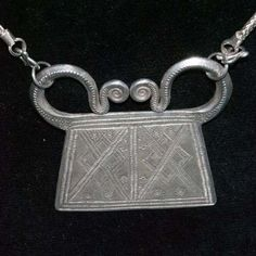 silver soul lock from Hmong hilltribe of Laos