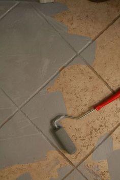Painting ceramic tile via little green notebook: