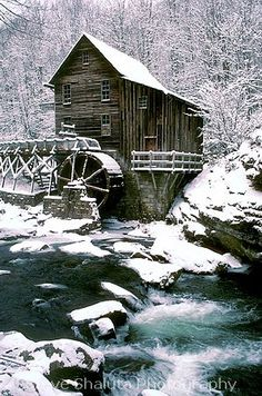 Winter~Glade Creek Grist Mill, Southern West Virginia