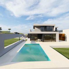 Modern Zen House, Best Modern House Design, Modern Exterior House Designs, Modern Architecture House, House Cladding, Facade House, Architectural House Plans, Casas Containers, Beautiful House Plans