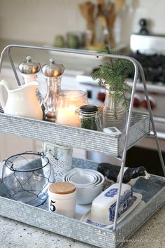 KitchenTieredTray thumb 10 Minute Decorating Ideas – In the Kitchen from Finding  Home