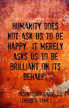 Orson Scott Card, Ender's Game Wisdom