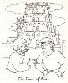 1)Tower of Babel Coloring Page - Denise Oliveri 2) Raamatun maailmaa valloittamassa -kirjasta sivut 39-41