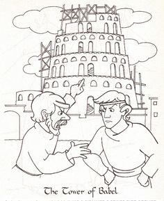 Tower of Babel Coloring Page - Denise Oliveri