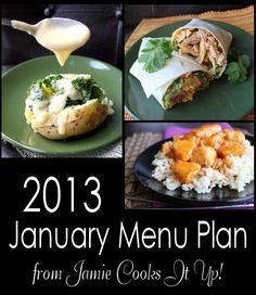 January Menu Plan from Jamie Cooks It Up!