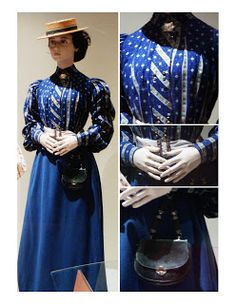 "This is an example of a tailored dress suit during the Edwardian era exhibited in Snibston. It is the stereotypical ""Gibson Girl"" fashion, created by the artist Charles Dana Gibson. These coordination of clothes were often used for travelling."